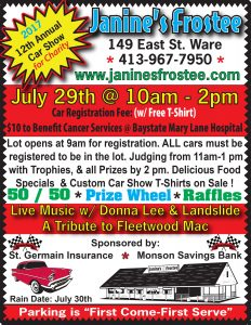 Annual Car Show for Charity @ Janine's Frostee | Ware | Massachusetts | United States