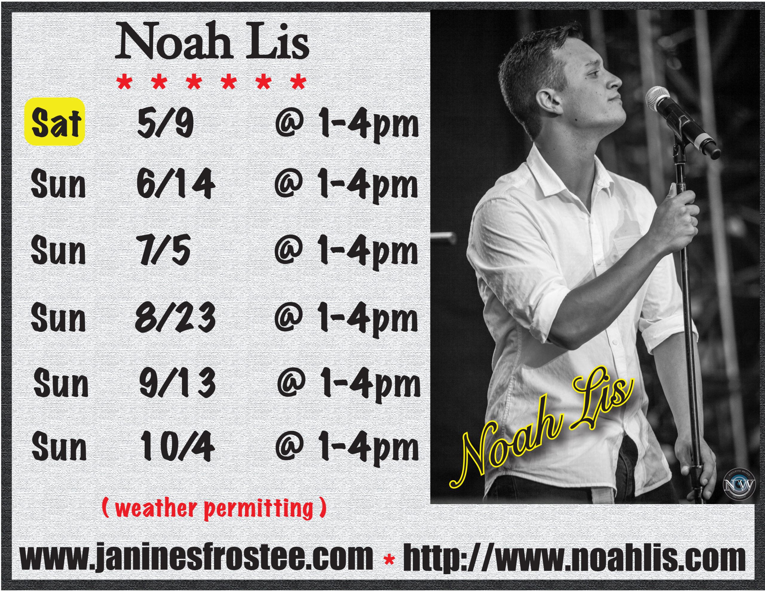 Noah Lis @ Janine's Frostee