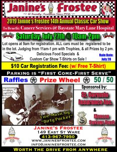 Annual Car Show for Charity @ Janine's Frostee