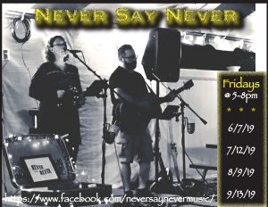 Never Say Never w/ Jared & Jessica Adams @ Janine's Frostee | Ware | Massachusetts | United States
