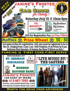 16th Annual Car Show for Charity @ Janine's Frostee